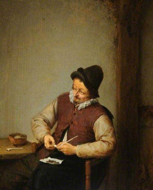 A Peasant Filling His Pipe | Adriaen van Ostade | Oil Painting