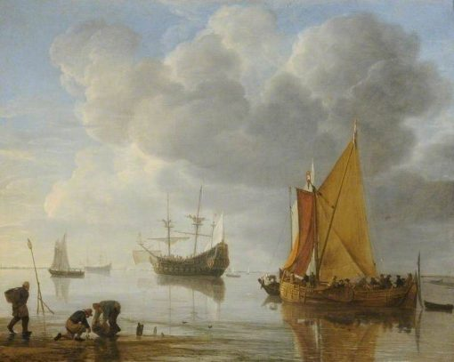 A Calm | Hendrick Jacobsz. Dubbels | Oil Painting