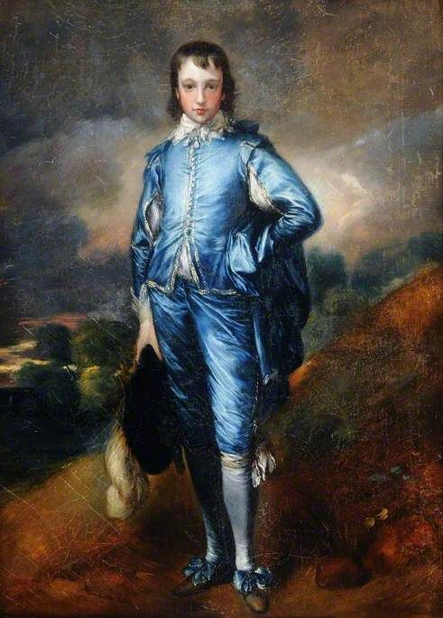 Blue Boy (copy after Thomas Gainsborough)   Henry Bone   Oil Painting