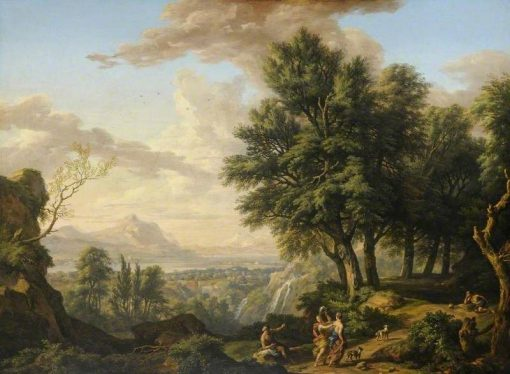 An Italian Landscape in the Region of Tivoli with Classical Figures | Isaac de Moucheron | Oil Painting