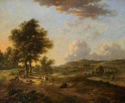 Landscape: The Mendicant   Jan Wijnants   Oil Painting