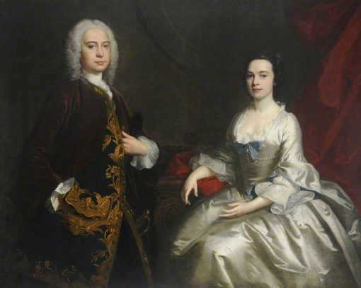 Sir Willoughby Aston and His Wife | Joseph Highmore | Oil Painting
