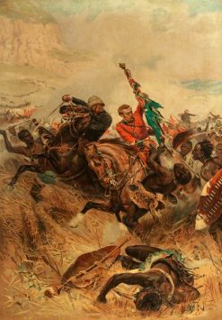 Saving the Queen's Colour at the Battle of Isandlwana | Alphonse Marie Adolphe de Neuville | Oil Painting