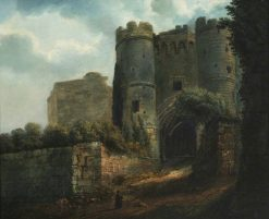 The Gatehouse at Carisbrooke Castle | Julius Caesar Ibbetson | Oil Painting