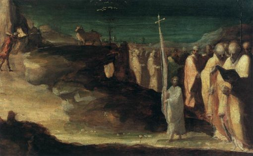 The Miracle of Saint Michael on Mount Gargano   Domenico Beccafumi   Oil Painting
