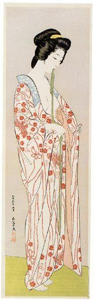 Woman Dressing(also known as Natsu Yosooi Masume Nagajuban) | Goyo? Hashiguchi | Oil Painting