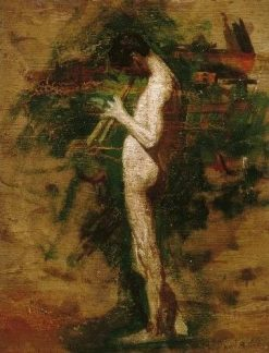 Study for Arcadia: Youth Playing Pipes | Thomas Eakins | Oil Painting