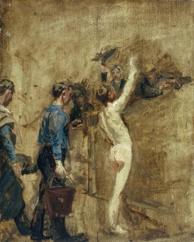 Study for Salutat   Thomas Eakins   Oil Painting