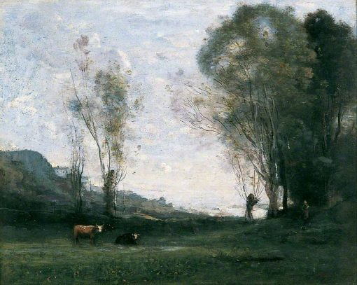 Solitude | Jean Baptiste Camille Corot | Oil Painting