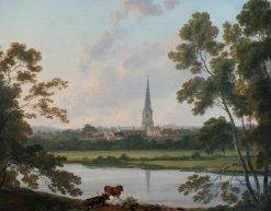 View of Masham and the River Ure at Masham | Julius Caesar Ibbetson | Oil Painting
