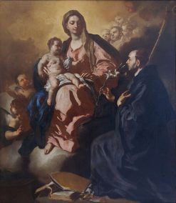 Madonna and Child with Saint Maurus | Francesco Solimena | Oil Painting