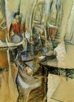 Interior with Two Female Figures | Umberto Boccioni | Oil Painting