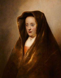 A Woman in a Green Velvet Hood | Jan Lievens | Oil Painting