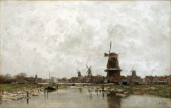 The Five Windmills | Jacob Maris | Oil Painting