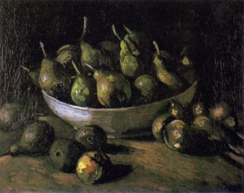 Still Life with Pears in a Bowl | Vincent van Gogh | Oil Painting