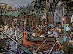 Chant de la Volga | Wassily Kandinsky | Oil Painting