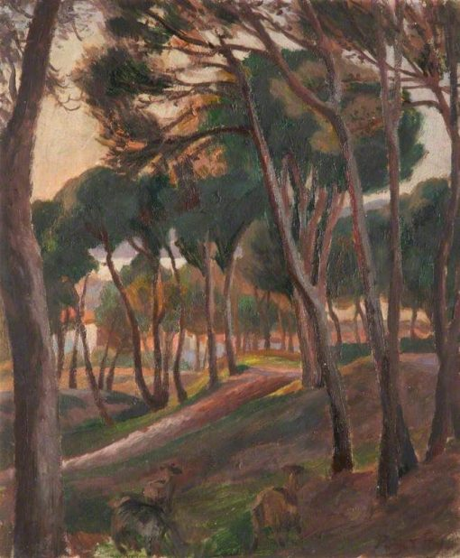 A Wooded Landscape with Goats | Roger Eliot Fry | Oil Painting