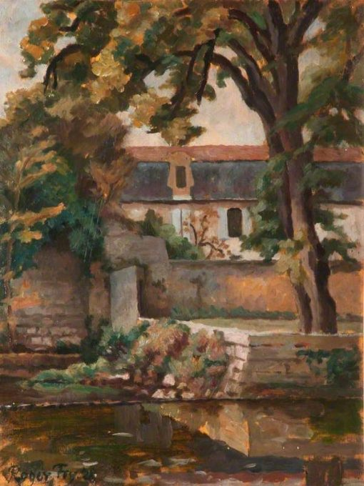 Landscape with Buildings and Tree by a Pool on the Continent | Roger Eliot Fry | Oil Painting