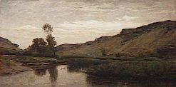 La grande vallée d'Optevox (Isere) | Charles Francois Daubigny | Oil Painting