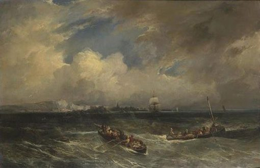 Sea View off the Coast of Normandy (?) | Camille Joseph Etienne Roqueplan | Oil Painting