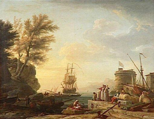 Marine: effet du soleil couchant | Claude Joseph Vernet | Oil Painting