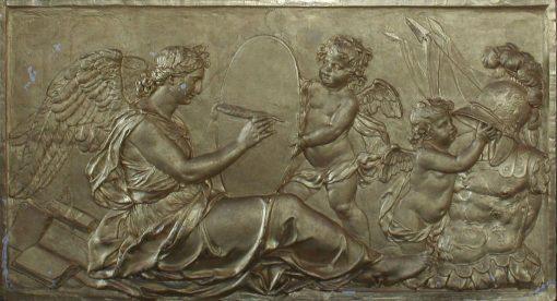 Clio écrivant l'histoire du Roi (Clio Writing the King's History) | Antoine Coysevox | Oil Painting