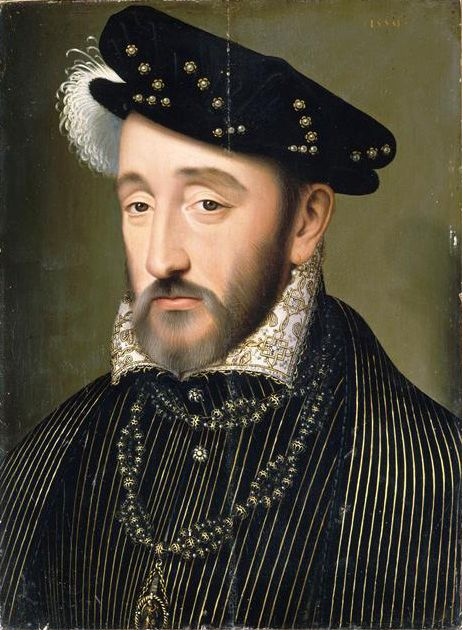 Henry II of France (detail) | Francois Clouet | Oil Painting