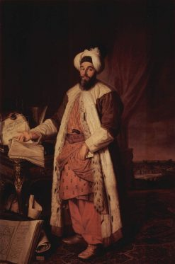 Portrait of Sa'id Pascha | Jacques AndrE Joseph Aved | Oil Painting