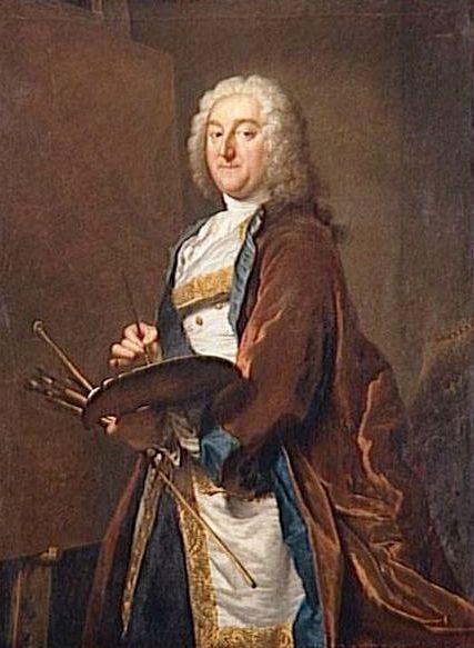 Jean-Francois de Troy (1679-1752)   Jacques AndrE Joseph Aved   Oil Painting