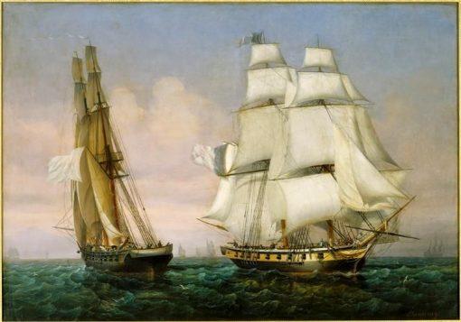 Retour de l'i?le d'Elbe (28 fevrier 1815)   Louis Garneray   Oil Painting