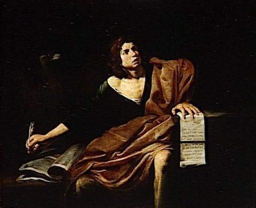 Saint John the Evangelist | Valentin de Boulogne | Oil Painting