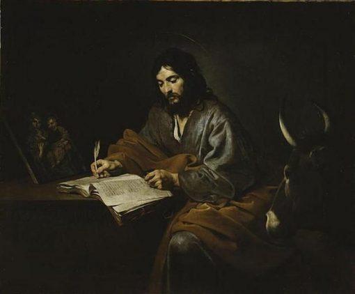 Saint Luke   Valentin de Boulogne   Oil Painting