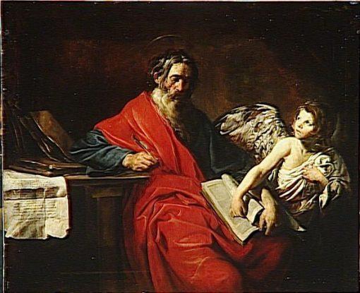 Saint Matthew   Valentin de Boulogne   Oil Painting