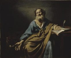 Saint Mark   Valentin de Boulogne   Oil Painting