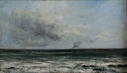 Vapeur au large de Dieppe | Antoine Vollon | Oil Painting