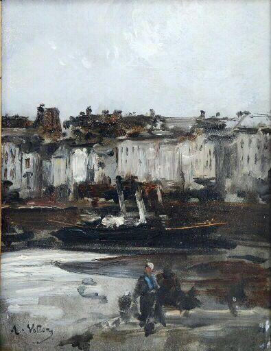 Port of Dieppe | Antoine Vollon | Oil Painting