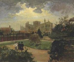 Peterborough Cathedral | Jacques Emile Blanche | Oil Painting