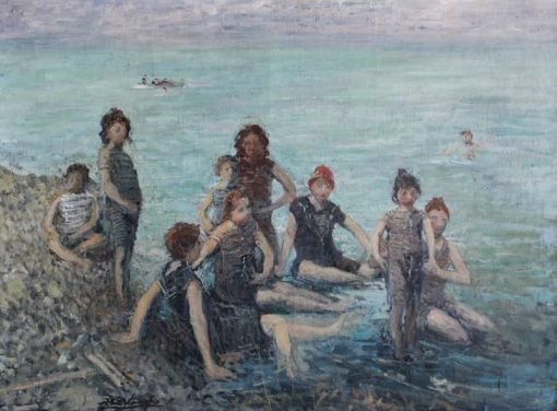 Bathers at Dieppe | Jacques Emile Blanche | Oil Painting