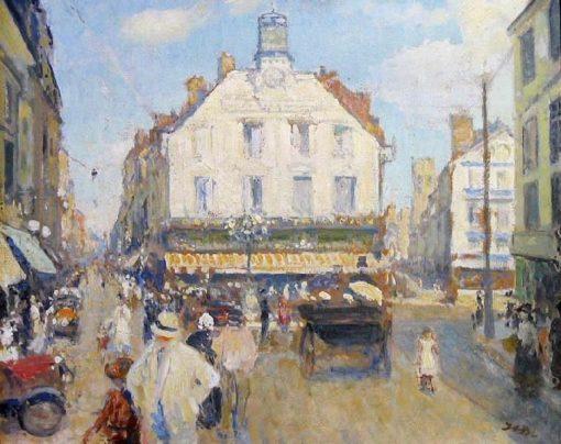 La Place du Puits Salé | Jacques Emile Blanche | Oil Painting