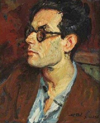 Portrait of Aldous Huxley | Jacques Emile Blanche | Oil Painting