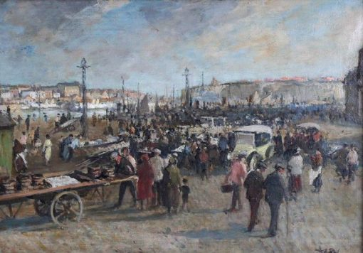 Fish Market | Jacques Emile Blanche | Oil Painting