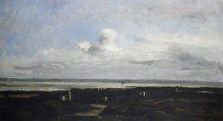 Plage de Villerville | Karl Pierre Daubigny | Oil Painting