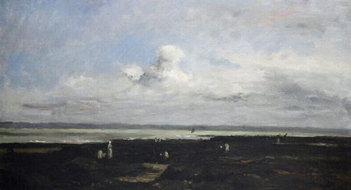 Plage de Villerville   Karl Pierre Daubigny   Oil Painting