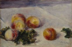 Still Life with Peaches | Pierre Auguste Renoir | Oil Painting