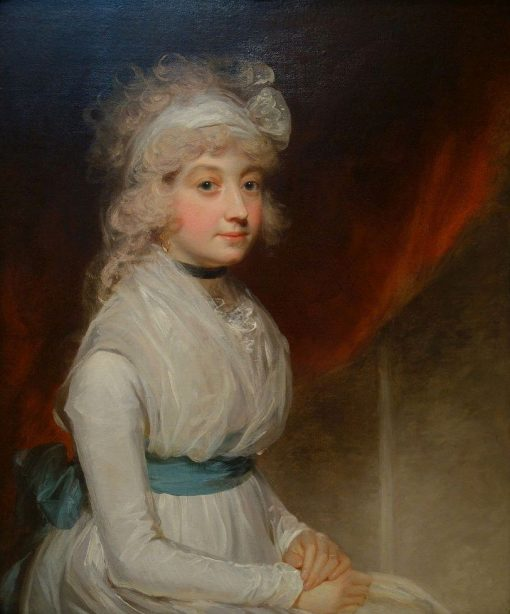 Portrait of Miss Tyre | John Hoppner | Oil Painting