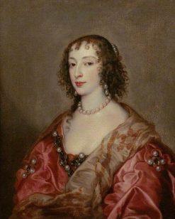 Queen Henrietta Maria (1609-1669)   Anthony van Dyck   Oil Painting