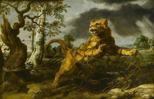 The Lion and the Mouse   Frans Snyders   Oil Painting
