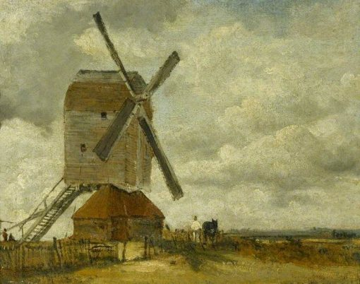 Windmills in a Landscape | Frederick Waters Watts | Oil Painting
