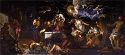 Saint Roch in Prison Visited by an Angel | Tintoretto | Oil Painting