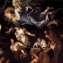 Saint Roch in Prison Visited by an Angel (detail) | Tintoretto | Oil Painting